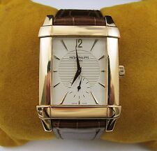 PATEK PHILIPPE 18k Rose Gold Swiss Men's Watch Leather Band Box Papers 5111R-001