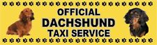 DACHSHUND OFFICIAL TAXI SERVICE (Longhaired) Dog Car Sticker  By Starprint