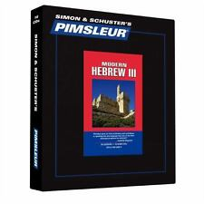 PIMSLEUR Learn/Speak HEBREW Language Level 3 CDs NEW
