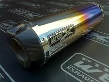 Aprilia RSV Mille 98-03 Coloured Titanium Round, Carbon Outlet Race Exhaust Can