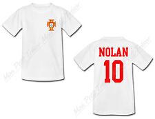 T-shirt Bébé Football Maillot Portugal personnalisé avec prénom et numéro au dos