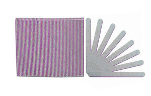 Standard Zebra 100/100 Grit (Lavender Center) Cushioned Beauty Salon Nail Files