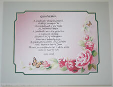 Personalized Poem for Grandmother or Nana Gift** Birthday Gift Idea **L@@K**