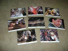 Indiana Jones & the Temple Of Doom Lobby Card Set #1-8  Complete Vintage 1984