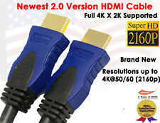6ft. Super HDMI 2.0 Cable Ethernet For UHD TV Plasma LCD PS3 Blu-Ray Cable boxes