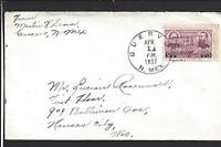 CUERVO, NEW MEXICO 1937 COVER, GUADALUPE CO. 1902/OP.