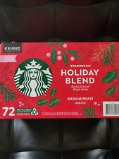Starbucks Holiday Blend 72 Kcups Medium Roast Ground Coffee {good boxes new}