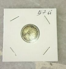 #ii 1957 Malaya Straits Settlement Borneo QE Queen 5 cents 5c coin