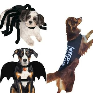 Pet Costume Bat Vampire Spider Skeleton Wings For Dog Cat Animal Fancy Halloween