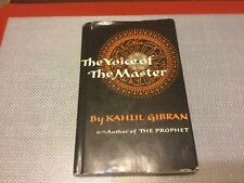 The Voice of The Master by Gibran, Kahlil (1958-Hardcover)