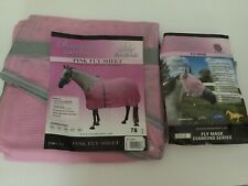 "Horse Equine Fly Sheet 78"" & Mask Medium Royal Diamond Series PINK"