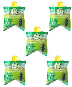 5x Fly Trap Bag Catcher Kills 20,000 Flies Insects Pest Control Killer