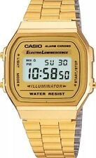 New Casio Gold A168WG-9 Digital Alarm Unisex Watch  A168WG Eliminator Light