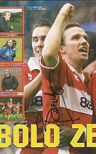 MIDDLESBROUGH: BOUDEWIJN ZENDEN SIGNED A4 (12x8) MAGAZINE PICTURE+COA