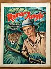 RAMAR OF THE JUNGLE COLORING BOOK COVER PRINTER'S PROOF 1965 RARE