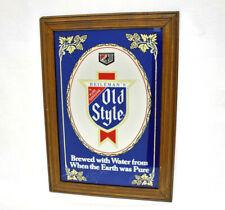 "Rare Vintage Blue Heileman'S Old Style 21"" X 15"" Man-Cave Bar Mirror!"