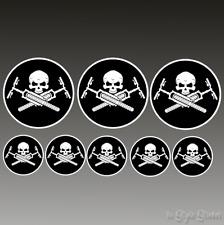 8 pegatinas bicicleta MTB elektrorad accesorios Skull Devil Punisher sticker DH BMX
