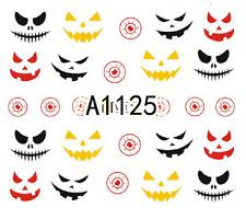 Nail Art Sticker Water Transfers Stickers Halloween Grinning Pumpkins (A-1125)