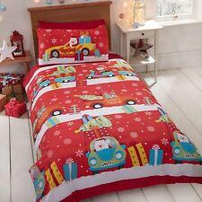 Noël Livraison Junior Bébé Duvet Couverture Ensemble Literie Enfant Noël Rouge