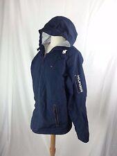 TOMMY HILFIGER men's Jacket M Medium Navy Blue Full Zip Hood Nylon Windbreaker