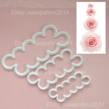 Rose plastic cutter 3 pieces set 3 sizes. Time saver cutters.  Flower cutter
