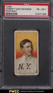 1909-11 T206 Christy Mathewson PORTRAIT PSA 1 PR