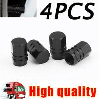 Black Car Wheel Tyre Tire Valve Cap Stems Air Dust Cover Screw Caps Truck Bike
