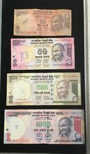 INDIA  Paper Money 10, 50 , 500 , 1000  RUPEES lot of 4 vintage notes