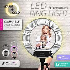 "19"" 5600K Dimmable Diva LED Ring Light Diffuser Stand Make Up Studio Mirror Mel"