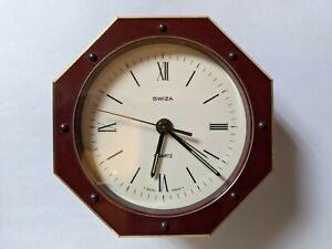 Swiza - Swiss table alarm clock in bronze - 1970s