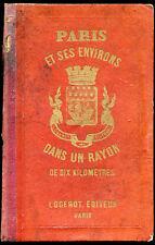 1890 - PARIS et ses Environs... Plan format 73 x 105 cm.