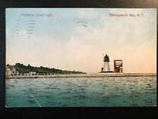 Vintage Postcard>1908>Prudence Island Light>Narragansett Bay>Rhode Island