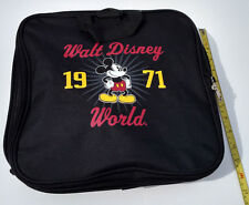 Mickey Mouse Duffle Bag Walt Disney World 1971 Tote Black Expandable Carry On
