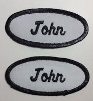 DAN EMBROIDERED SEW ON NAME PATCH LOT OF 2 ~ NAME TAG