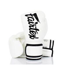 16 OZ FAIRTEX BGV14 WHITE GLOVES MUAY THAI TRAINING SPARRING MMA KICK BOXING