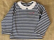 Jacadi Petite Fille Paris 36 Months (96cm) Girls Blue Striped Long Sleeve Shirt