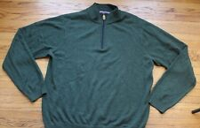 Vineyard Vines Cashmere Cotton 1/4 Zip Sweatshirt Mens Large Olive Green Sweater