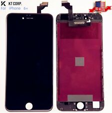 "USA iPhone 6 Plus Black 5.5"" LCD Display Touch Screen, TPU Hard Clear Phone Case"
