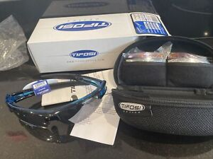 BNIB Tifosi Synapse - CRYSTAL BLUE Interchangeable Sunglasses FREE P+P