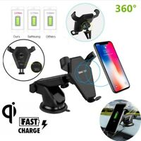 360° Rotatable Car Mount Charger Phone Stand Wireless Fast Chargers Phone Holder