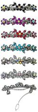 Set of 6 Small Barrettes Hairclips Sparkling Stones U86250-1366-6D2
