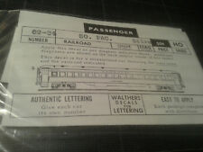 Walthers 89-84 - Ancien AUTOCOLLANTS HO - SOUTHERN PACIFIC SUNSET LIMITED SILVER