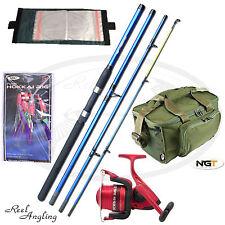 Sea Fishing Set NGT Travel Rod 4pc + Ocean Master 80 Reel + Bag ,Mackeral Rigs