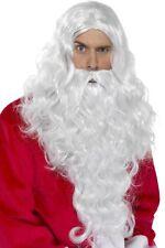 Caballeros Largo Santa Peluca & Barba Navidad Papá Noel