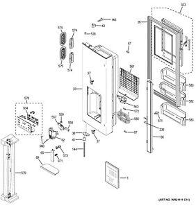 NEW OEM GE Refrigerator DRIP TRAY DORIGAN GRAY WR17X29476