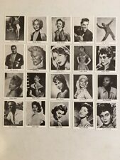 1950's 1960's MOVIE STARS © (1960 Dutch Val Gum Reissue) Complete 38 Card Set