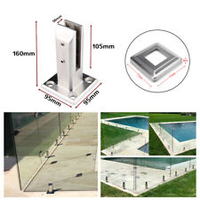 Glass Floor Stand Stairs Bracket Balcony Pool Spigots Balustrade Railing Clamp