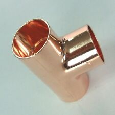 New End feed equal Tee 76mm, plumbing, water, copper, Uk seller