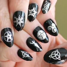 WICCAN Nail Art Symbols MEGAPACK 57 Silver Mixed Magic Goth Waterslide Decals