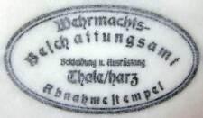 WW2 German M40 1940 ET Shell Helmet Dome Acceptance Stamp - Procurement Office